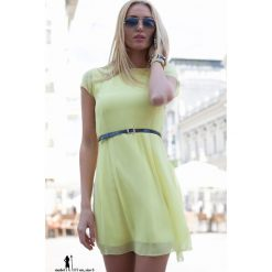 Sukienki: Sukienka szyfonowa żółta