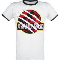 T-shirty męskie: Jurassic Park Ripped Logo T-Shirt biały/czarny