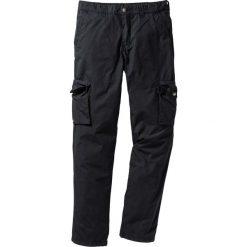 Spodnie męskie: Lekkie spodnie bojówki Regular Fit Straight bonprix czarny