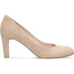 Czółenka FRIDA. Czerwone buty ślubne damskie Gino Rossi, ze skóry, na wysokim obcasie, na obcasie. Za 299,90 zł.