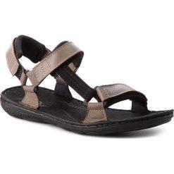 Sandały ŁUKBUT - 990 Brązowy. Brązowe sandały męskie skórzane Łukbut. W wyprzedaży za 149,00 zł.
