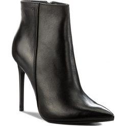 Botki EVA MINGE - Maribel 17BD1372198EF 101. Czarne buty zimowe damskie marki Eva Minge, z materiału, na obcasie. W wyprzedaży za 279,00 zł.