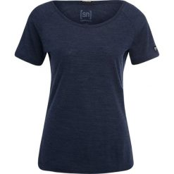 Topy sportowe damskie: super.natural ESSENTIAL SCOOP NECK TEE Tshirt basic navy blazer melange