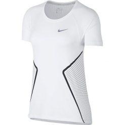 Koszulka do biegania damska NIKE DRY MILER TOP GX / 890349-101 - MILER TOP GX. Szare bluzki asymetryczne Nike, z materiału. Za 129,00 zł.