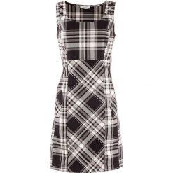 Sukienka bonprix czarno-biały w kratę. Niebieskie sukienki na komunię marki bonprix, z nadrukiem, na ramiączkach. Za 129,99 zł.