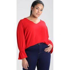Bluzki asymetryczne: Dorothy Perkins Curve V NECK SHEARED WRIST Bluzka red