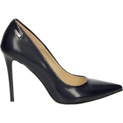 Czółenka - 4700-8 VER BL. Czarne buty ślubne damskie Venezia, ze skóry. Za 239,00 zł.