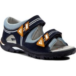 Sandały BARTEK - 19128-W28 19128-W28. Niebieskie sandały męskie skórzane marki Bartek. W wyprzedaży za 169,00 zł.
