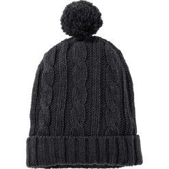 Czapka bonprix antracytowy. Zielone czapki zimowe damskie marki bonprix, w kropki, z kopertowym dekoltem, kopertowe. Za 21,99 zł.
