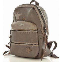 Sportowy plecak szara ADDISON. Szare plecaki damskie marki Nobo, w paski, ze skóry ekologicznej, sportowe. Za 129,00 zł.