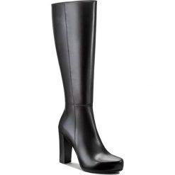 Kozaki GINO ROSSI - Serena DKH138-S82-E100-9900-F 99. Czarne buty zimowe damskie marki Gino Rossi, z materiału, na obcasie. W wyprzedaży za 369,00 zł.