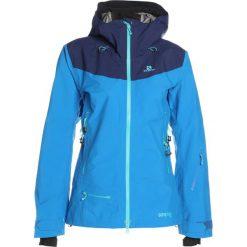 Salomon CHARGE  Kurtka snowboardowa sky diver. Niebieskie kurtki damskie narciarskie Salomon, m, z materiału. Za 2729,00 zł.