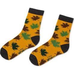 Skarpety Wysokie Unisex FREAK FEET - LLIS-MUG Kolorowy Żółty. Żółte skarpetki damskie Freak Feet, w kolorowe wzory, z bawełny. Za 19,99 zł.
