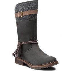 Kozaki RIEKER - 94778-00 Black Combination. Czarne buty zimowe damskie marki Rieker, z materiału. Za 329,00 zł.