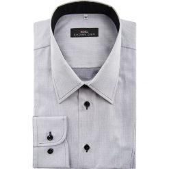 Koszula  ROBERTO 15-01-59-K. Szare koszule męskie na spinki Giacomo Conti, m, z bawełny, z klasycznym kołnierzykiem, z długim rękawem. Za 229,00 zł.