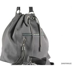 Skórzana torba typu worek XL - qualityart. Szare torebki klasyczne damskie Pakamera, duże. Za 230,00 zł.