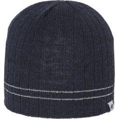 Czapka męska CAM012z - granatowy ciemny - 4F. Niebieskie czapki zimowe męskie 4f, na jesień, z materiału. Za 49,99 zł.