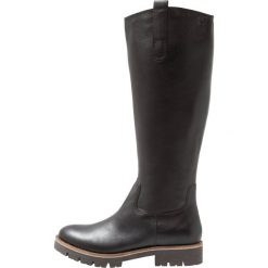Caprice Kozaki black. Czarne buty zimowe damskie Caprice, z materiału. Za 399,00 zł.