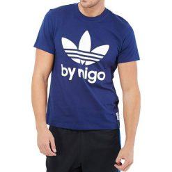 T-shirty męskie z nadrukiem: T-shirt w kolorze niebieskim