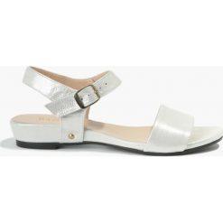 Rzymianki damskie: Sandały srebrne Nita