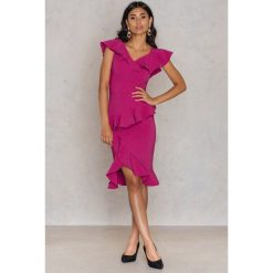 Sukienki hiszpanki: Trendyol Sukienka na jedno ramię – Pink,Purple