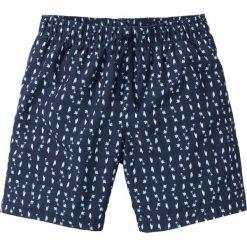 Długie szorty plażowe Regular Fit bonprix ciemnoniebieski z nadrukiem. Niebieskie szorty męskie marki ARTENGO, l, z elastanu. Za 37,99 zł.