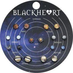 Blackheart Solar System Kolczyki - Earpin wielokolorowy. Szare kolczyki damskie Blackheart, sztuczne. Za 42,90 zł.
