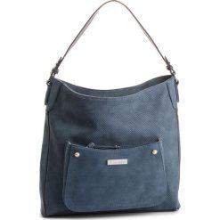 Torebka MONNARI - BAG3340-012 Blue. Brązowe torebki klasyczne damskie marki Monnari, w paski, z materiału, średnie. W wyprzedaży za 199,00 zł.