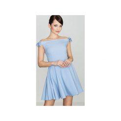 Sukienka K170 Niebieski. Szare sukienki marki Lenitif, l. Za 139,00 zł.