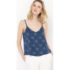 Bluzki damskie: Koszulka na ramiączkach z poliestru