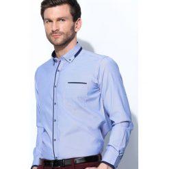 Koszule męskie na spinki: Ciemnoniebieska Koszula Fancy Cuff