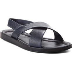 Sandały KAZAR - Harry 29447-01-N9 Navy. Niebieskie sandały męskie skórzane Kazar, z paskami. W wyprzedaży za 229,00 zł.