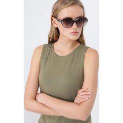 Okulary przeciwsłoneczne damskie aviatory: Prada Okulary przeciwsłoneczne brown