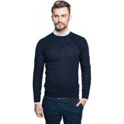 Sweter roger półgolf granatowy. Czerwone swetry klasyczne męskie marki Recman, m, z długim rękawem. Za 219,00 zł.