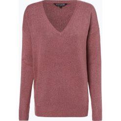 Review - Sweter damski, różowy. Czerwone swetry klasyczne damskie Review, l, z wełny, z dekoltem w serek. Za 129,95 zł.