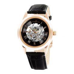 """Zegarki męskie: Zegarek """"CHP197"""" w kolorze czarno-różowozłotym"""