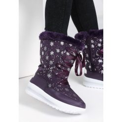 Fioletowe Śniegowce Contents. Fioletowe buty zimowe damskie Born2be, za kostkę. Za 89,99 zł.