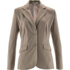 Żakiet bawełniany z dżerseju bonprix brunatny. Brązowe marynarki i żakiety damskie marki bonprix. Za 149,99 zł.