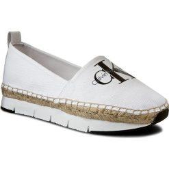Espadryle CALVIN KLEIN JEANS - Genna R3768 White. Białe tomsy damskie Calvin Klein Jeans, z jeansu, na płaskiej podeszwie. W wyprzedaży za 299,00 zł.