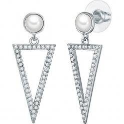 Srebrne kolczyki z perłą w kolorze białym. Szare kolczyki damskie marki Reserved, srebrne. W wyprzedaży za 136,95 zł.