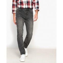 Dżinsy slim. Szare jeansy męskie slim marki La Redoute Collections. Za 163,76 zł.