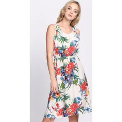 Sukienki: Biała Sukienka Gunmetal