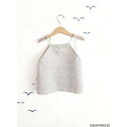 Bluzki dziewczęce w paski: LEN bluzka w paski brąz