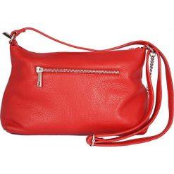 Torebki klasyczne damskie: Skórzana torebka w kolorze czerwonym – 27 x 18 x 7 cm