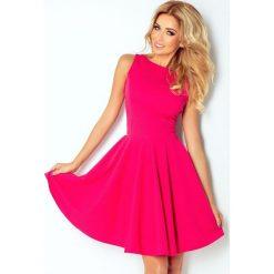 125-3 sukienka koło - dekolt łódka - cegiełka - malinowa. Różowe sukienki marki numoco, l, z dekoltem w łódkę, oversize. Za 144,00 zł.