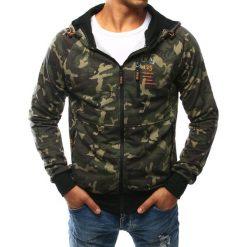 Bluzy męskie: Bluza męska rozpinana woodland camo (bx2437)