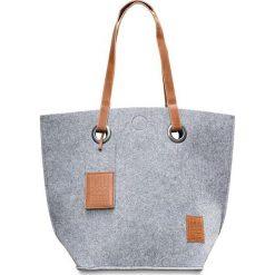 Shopper bag damskie: Shopper bag w kolorze szarym – 50 x 40 cm