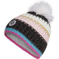 Czapka z kolorowym wzorem. Szare czapki zimowe damskie Codello, w kolorowe wzory, z dzianiny. W wyprzedaży za 85,95 zł.