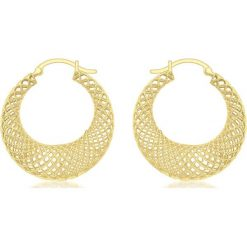 Kolczyki damskie: Złote kolczyki-kreole