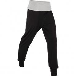 Spodnie alladynki, długie, Level 1 bonprix czarno-jasnoszary melanż. Czarne bryczesy damskie bonprix, na fitness i siłownię. Za 69,99 zł.